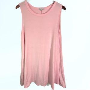 Acemi Light Pink Sleeveless Shirt Dress